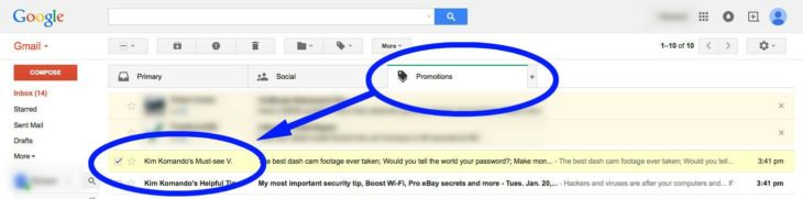 Gmail Promo Inbox One Select