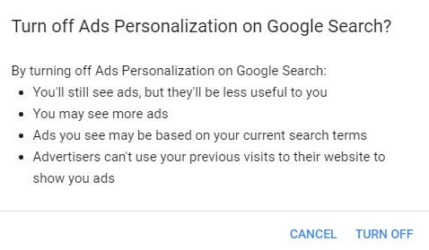 off ads search