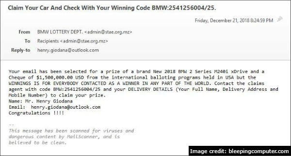 BMW email scam