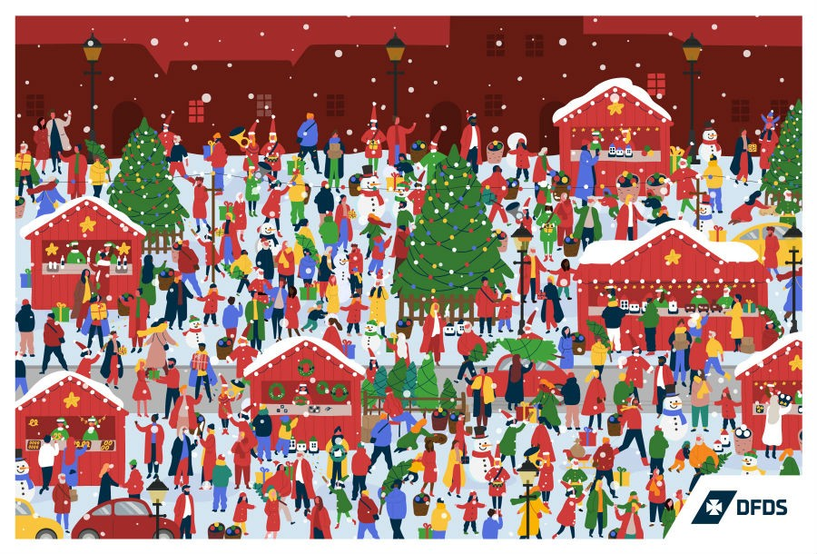 Find Santa Claus in the crowd