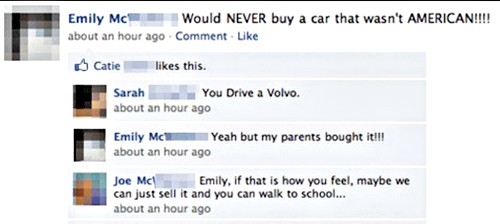 facebook family fights over a car