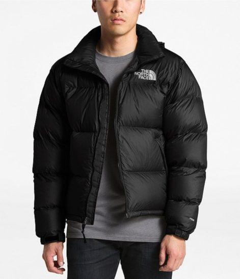 The North Face Solid Nuptse Insulated Puffer Down Jacket