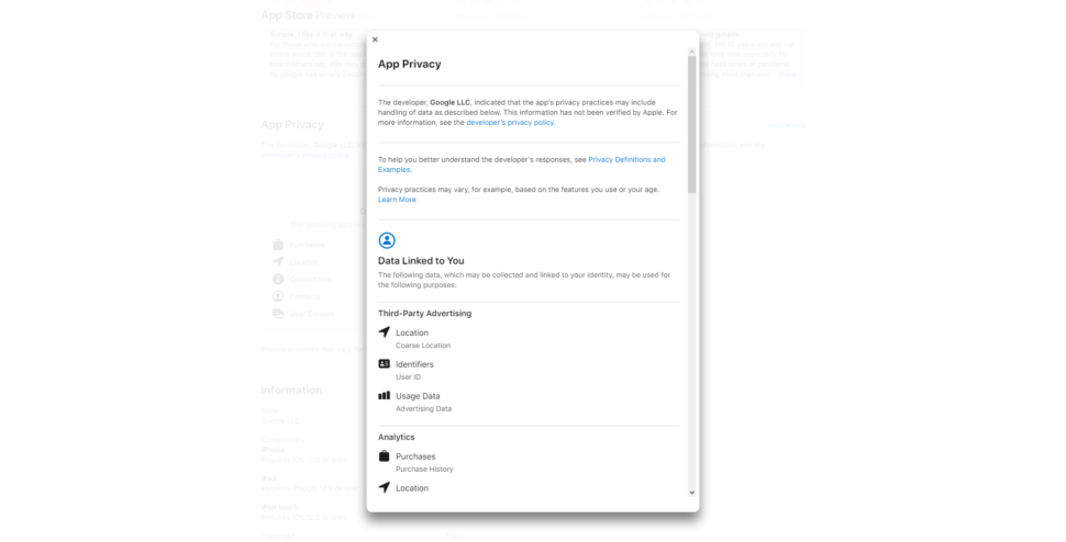Gmail privacy iOS